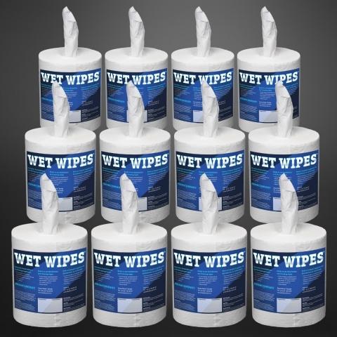 Wet Wipes 310 getränkte Desinfektionstücher Reinigungstücher Flächendesinfektion, 12 x 310 Blatt (3'720 Tücher)