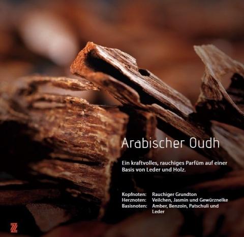 Arabian Oudh Aromaöl 200ml Ein starkes, rauchiges Parfüm, basierend auf dem Duft von Leder und Holz.