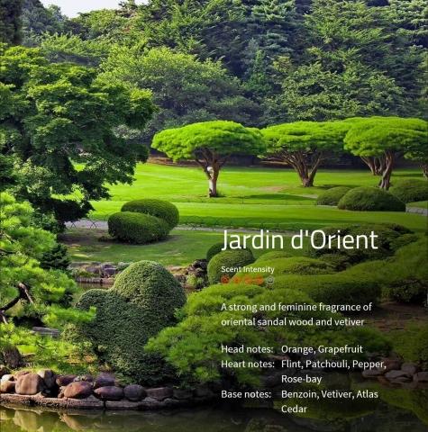 Jardin dÔrient Aromaöl 200ml  Ein starker und weiblicher Duft aus orientalischem Sandelholz und süssem Gras