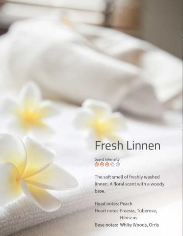 Fresh Linnen 200ml Aromaöl Klarer, sauberer Duft von Pfirsich und Hibiskus.