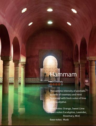 Hammam Aromaöl 200ml  Ein aromatischer Duft von Rosmarin mit Minze.