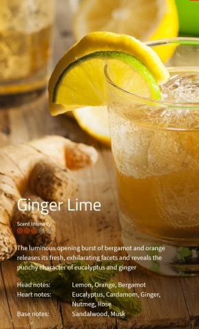 Ginger Lime Aromaöl 200ml Die eröffnende Fülle aus Bergamotte und Orange setzt eine berauschende Frische frei.