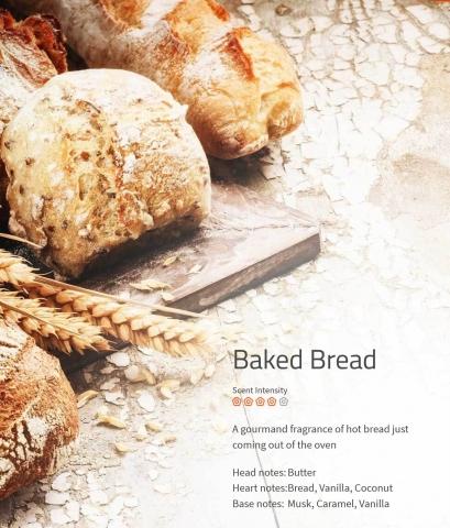 Baked Bread Ein Traum von Duft nach frischem Brot, direkt aus dem Backofen.