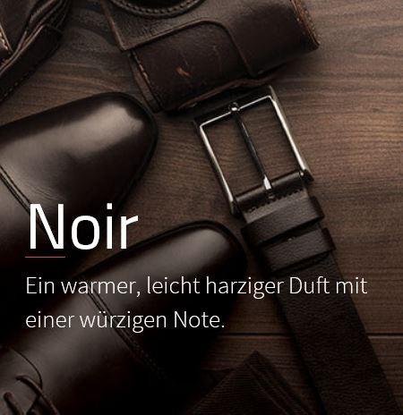 Noir Ein warmer Duft, der seinen Charakter durch scharfe Akkorde erhält