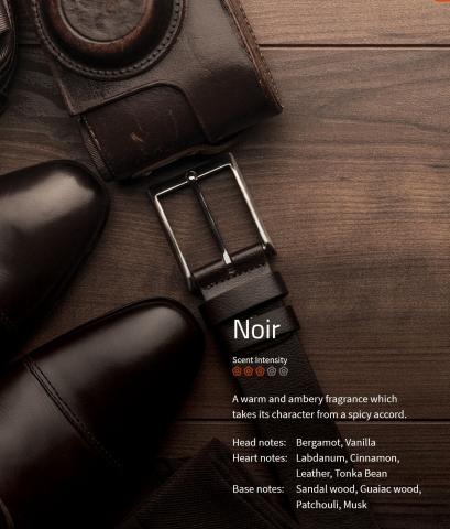 Noir Aromaöl 200ml  Ein warmer Duft, der seinen Charakter durch scharfe Akkorde erhält.