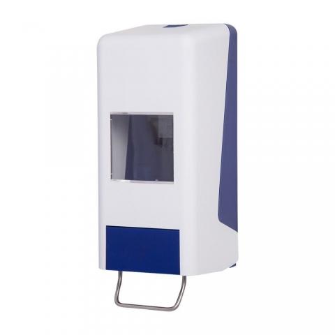 Handwaschpastenspender für 1 od. 2 L Kartuschen-blau-weiss