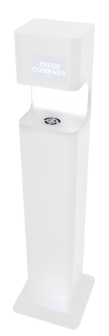 Desinfektionssäule 5 Liter Inhalt Premium Sensor non touch DISTA weiss