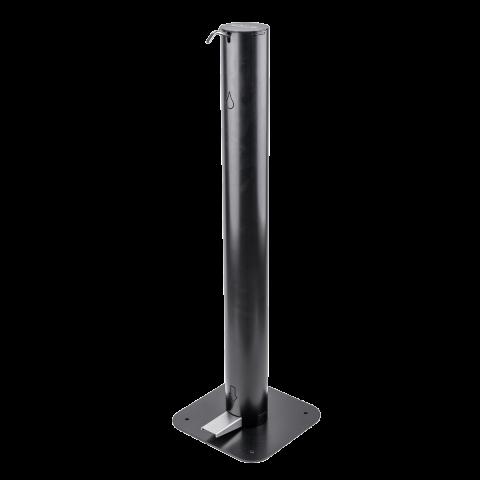 Edelstahl-Desinfektionsständer mit Fusspedal mit 3.5 L Tankvolumen schwarz