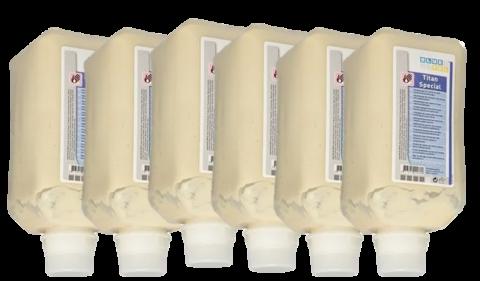 Handreiniger, Grobreiniger Titan Spezial für härtere Verschmutzungen, 6 Vakuumflaschen à 2.000ml