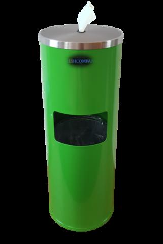 WET WIPE Standspender Edelstahl grün