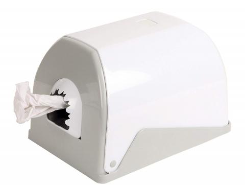 Papierhandtuchrollen-Spender, weiß für MIDI Rollen bis Ø 22 cm, Kunststoff