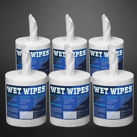 Wet Wipes 620 Desinfektionstücher 6 x 620 Tücher Blatt (3720 Tücher) fertig getränkt