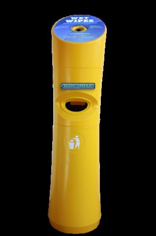 Wet Wipe Standspender gelb