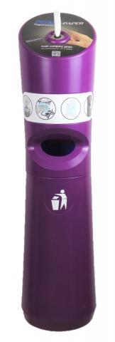 Wet Wipe Standspender Dosierspender für Desinfektionstücher Lila