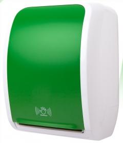 COSMOS Handtuchrollenspender Sensor-grün-weiss