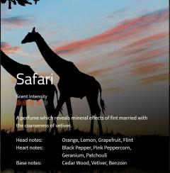 Safari Aromaöl 200ml Ein kühner und frischer Duft mit mineralischen, holzigen Noten und einer Spur Zitrus.