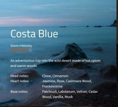 Costa Blue Aromaöl 200ml  Eine Abenteuerreise in die unberührte Wüste – der Kampf zwischen scharfen gegen warme, holzige Noten.