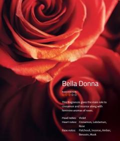Bella Donna Aromaöl 200ml Bei diesem Duft spielt Zimt die Hauptrolle, unterlegt mit dem weiblichen Aroma der Rose.