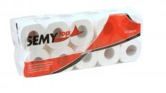 SemyTop Toilettenpapier, 4 Lagen, 150 Blatt, Großpackung