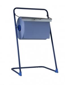 SemyTop Putzrollen-Spender Bodenständer, blau, Stahl