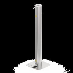 Edelstahl-Desinfektionsständer mit Fusspedal mit 3.5 L Tankvolumen