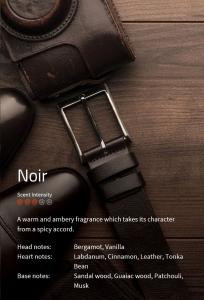Noir *** Ein warmer Duft, der seinen Charakter durch scharfe Akkorde erhält  VE: 200ml