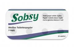 Toilettenpapier, 3-lg., 250 Bl., geprägt, hochweiß, Zellstoff  2'016 Rollen