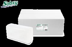 Sobsy Z-Falz Papierhandtuch 20,6x24cm, 2-lg, weiß 3'750 Blatt
