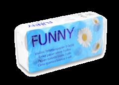 Toilettenpapier Funny 3-lg., 250 Bl., geprägt, hochweiß, Zellstoff